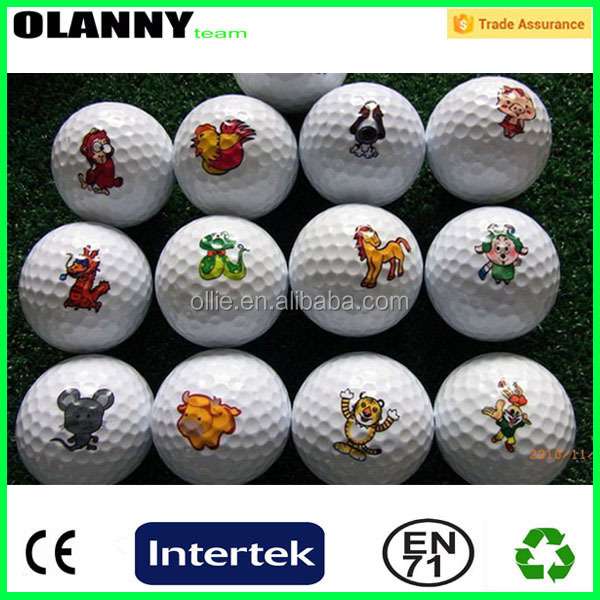 mini size outdoor sport silk screen printing large golf ball