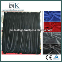 Electric stage curtain with black drapery