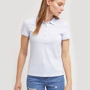 fashion custom young girl quick dry polo casual t shirts white