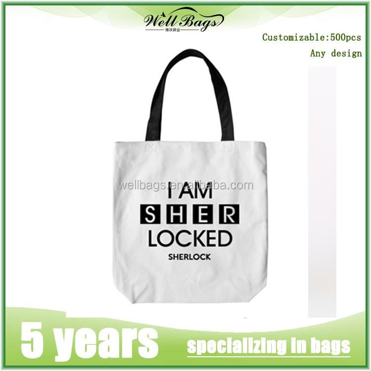 Fashion cotton shopping bags,cotton bag with printed logo