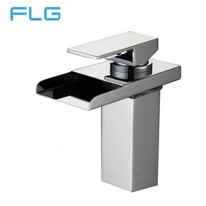 FLG 815 High Quality Waterfall Square LED Basin Faucet Mixer Tap