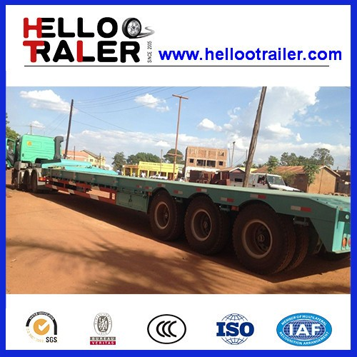 3 Axle 50 ton Low Loader Low Flatbed Truck Semi Trailer with ABS Braking system