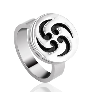 Factory Hot Sale Custom Design Stainless Steel Ring Laser Carving Pattern