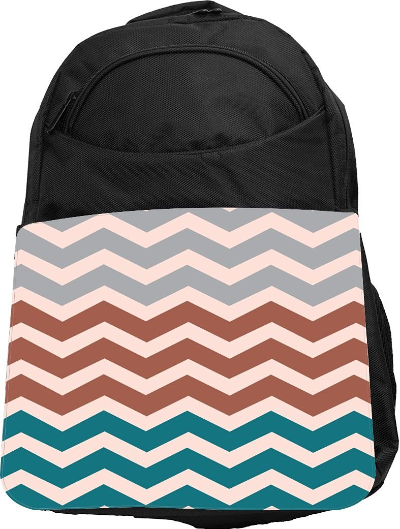 Get Quotations · Rikki Knight® UKBK Chunky Chevron Peach Mocha Blue Chevron  Tech BackPack - Padded for Laptops 35284b7c3ad13