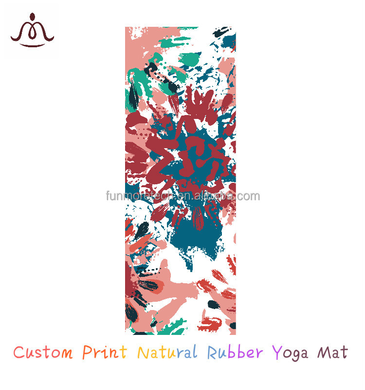 eco friendly organic yoga mat non slip washable foldable custom yoga mat