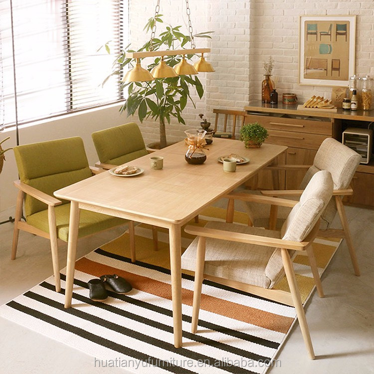 Restaurant Furniture Sectional Oak Wood Corner Dining Table And Chair Sets