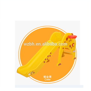 2016 plastic swing and slide combination Out slide and swing combination outdoor playground equipment