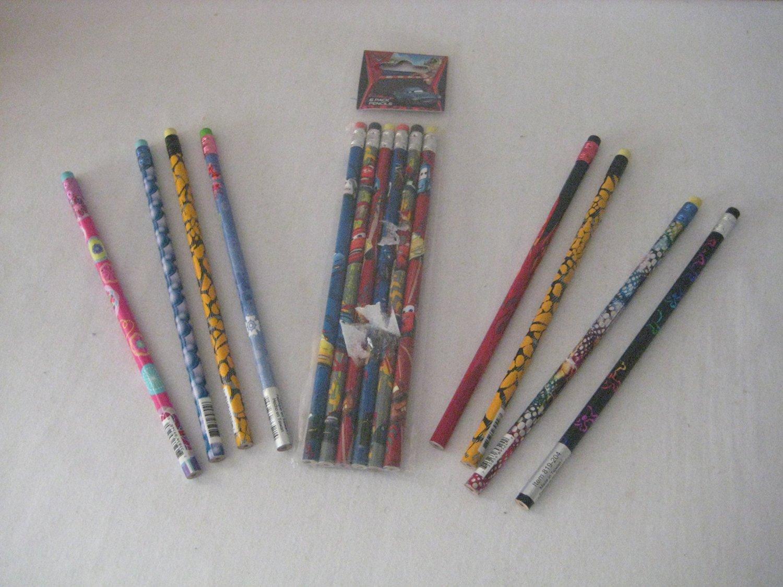 Cars Disney Lightening McQueen Assorted Pencils 6pk & 8 Free Pencils