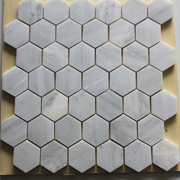 Hexagon Offwhite Marble Mosaic For Floor And Wall Tile