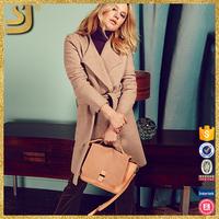 Factory price ladies overcoat cashmere wool fashion women winter coat 2016