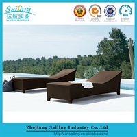 Sailing All Weather Sgs Tested Modern Round Wicker Tall Outdoor Lounge Chairs