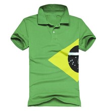 Men's custom printed green factory price moisture wicking POLO short T shirt