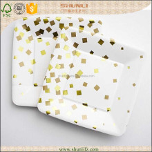 Upscale rectangular recycled disposable plates