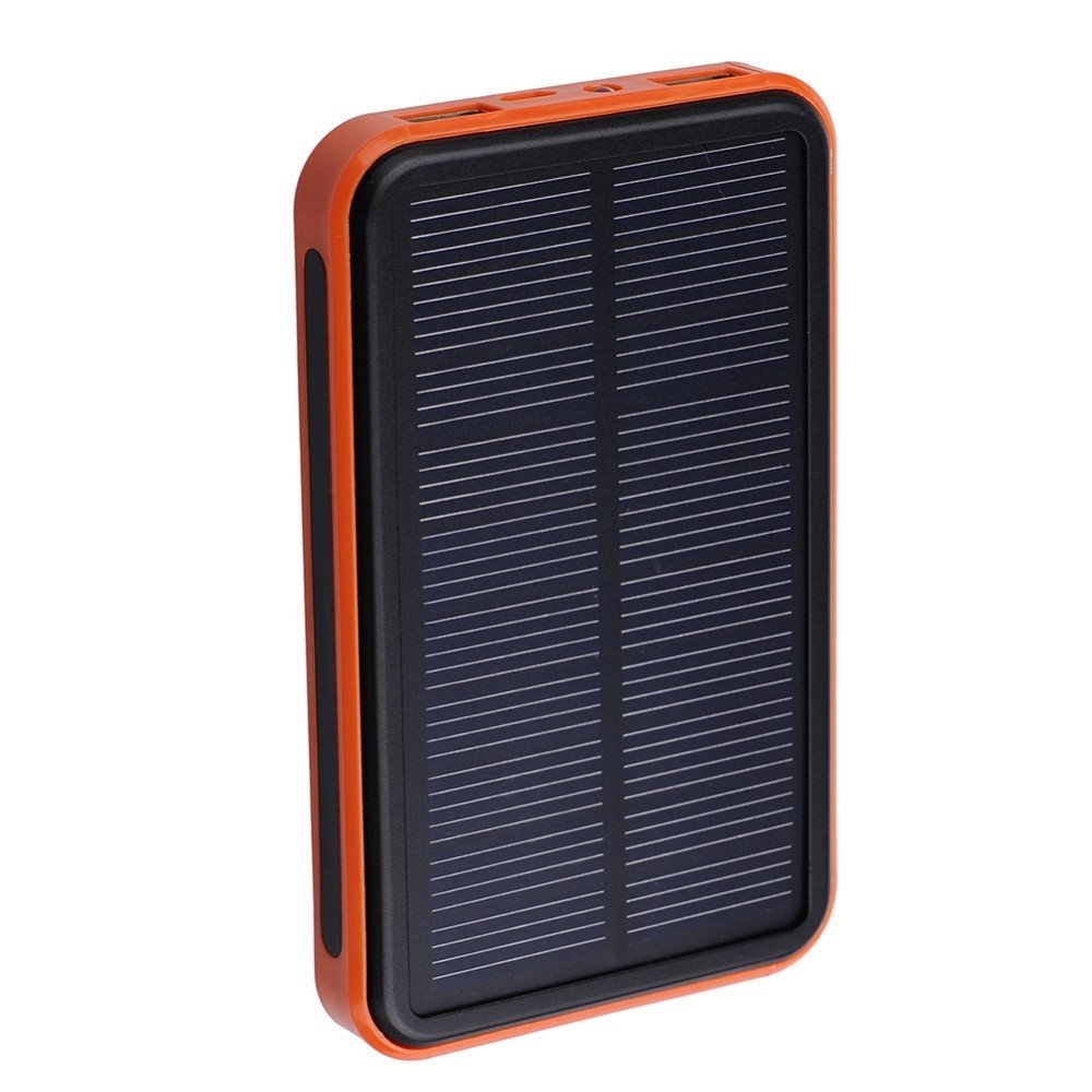 Vipwind Solar Power Bank 50000mAh Solar Charger Waterproof Portable Solar Power Bank Dual USB Solar Charger for Cell Phone Power Bank - Orange
