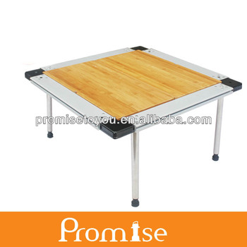 2014 New Folding Bamboo Table Square Iron Grill Table PCT348M