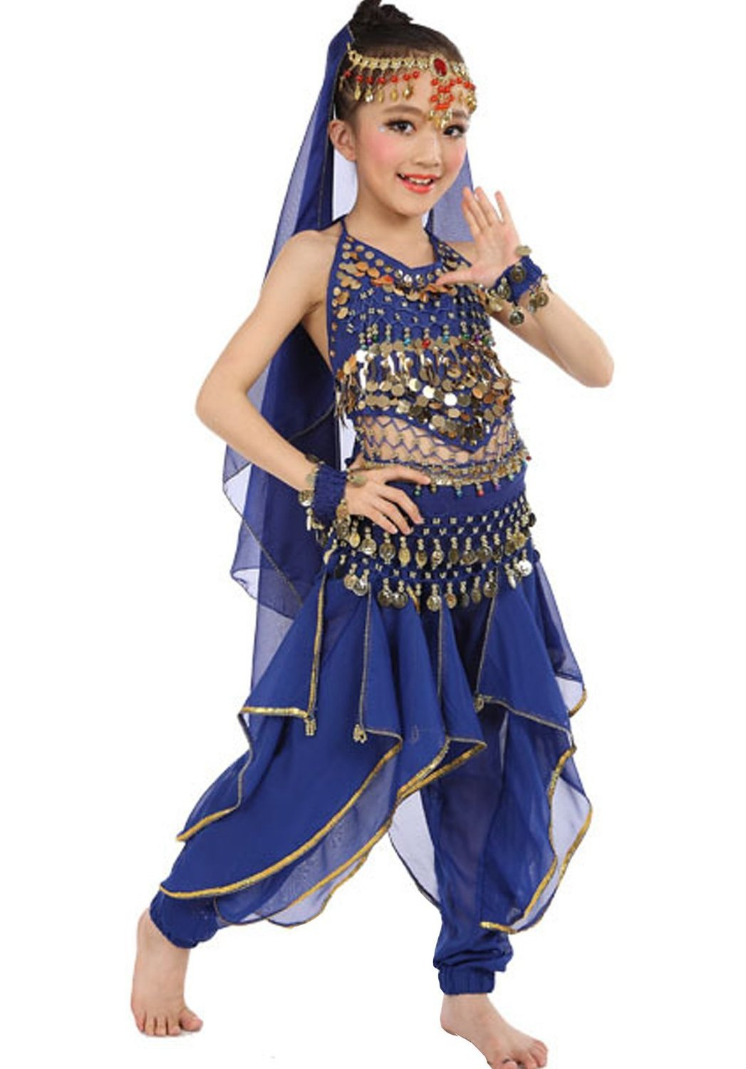 2a7ebf95c9172 Get Quotations · Astage Girls Halloween Costume Oriental Belly Dance  Costume All Accessories