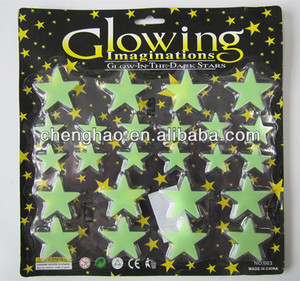 baby room decoration PP glow in the dark star sticker