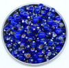 wholesale blue small millefiori glass beads