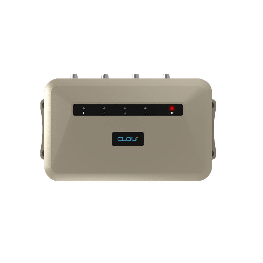CLOU Bluetooth/WiFi Long Range 4 ports UHF RFID Reader for Auto School Attendance System RFID
