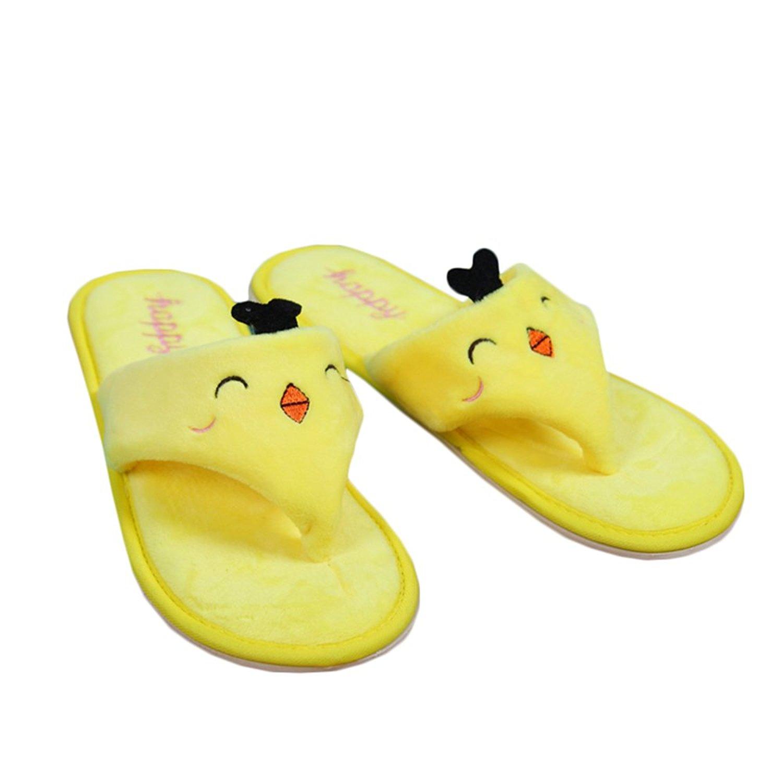 ac6f9984a47 Get Quotations · Rain s Pan Carton Animal Design Non-slip Plush Thong Flip  Flop House Slippers Open Toe