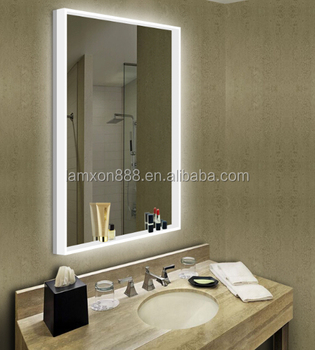 New Design European Bathroom LED Backlit Mirror With Acrylic Lighting