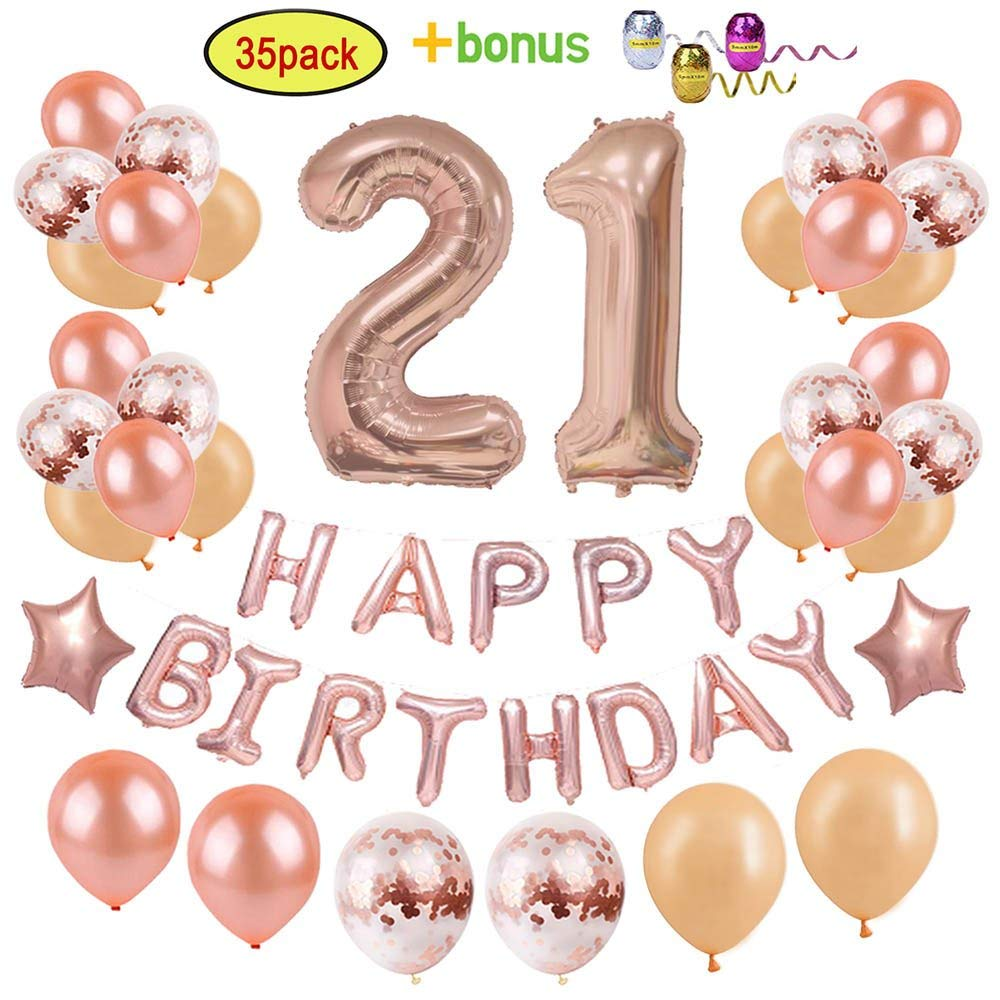 Get Quotations 21st Birthday Decorations Party Supplies For Girls Women