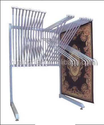 hanging rug display rack metal carpet rack for exhibition - buy