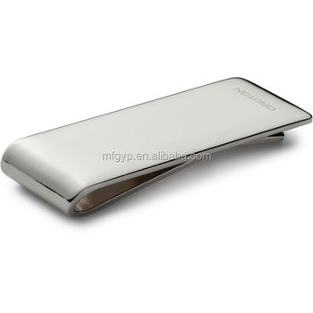 High quality metal stainless steel mens money clip