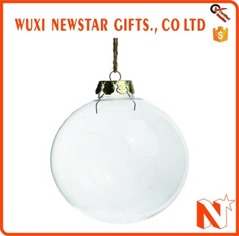 Clear Glass Christmas Ornaments Wholesale