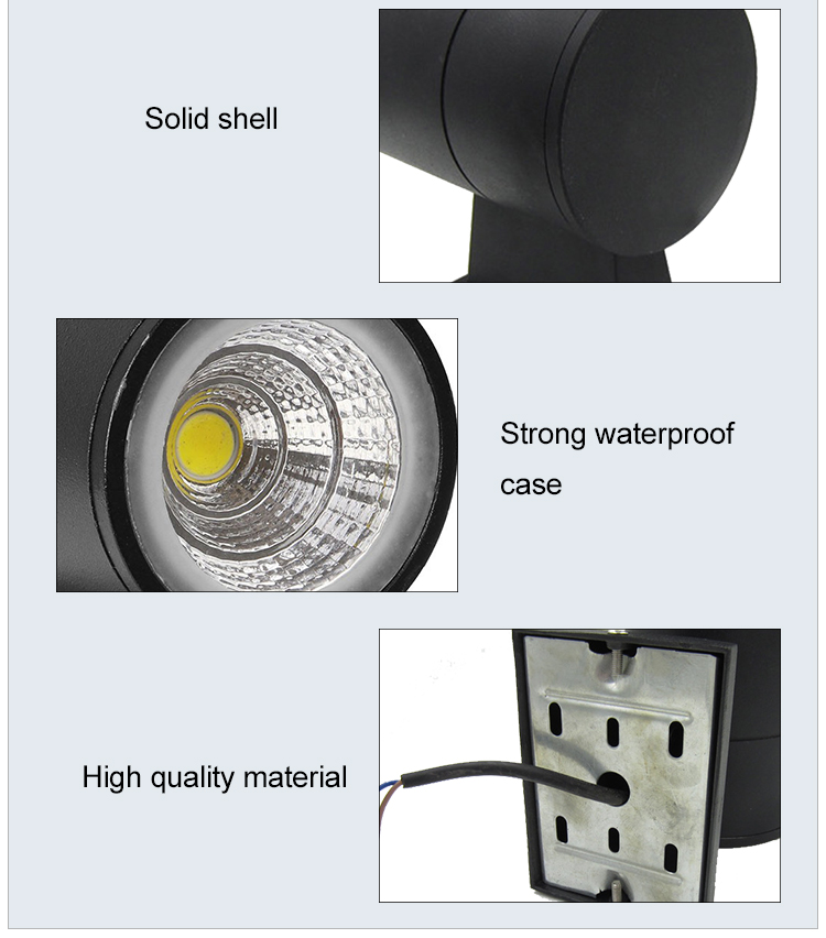 outdoor wall lights waterproof IP65 led wall outdoor 6w 9w 15w 18w 36w COB type aluminum material