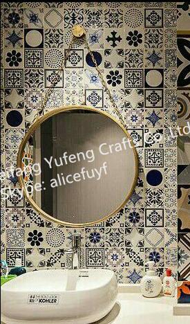 50x50 Cm Blanco Decorativo Marco De Metal Espejo De Pared Colgante ...