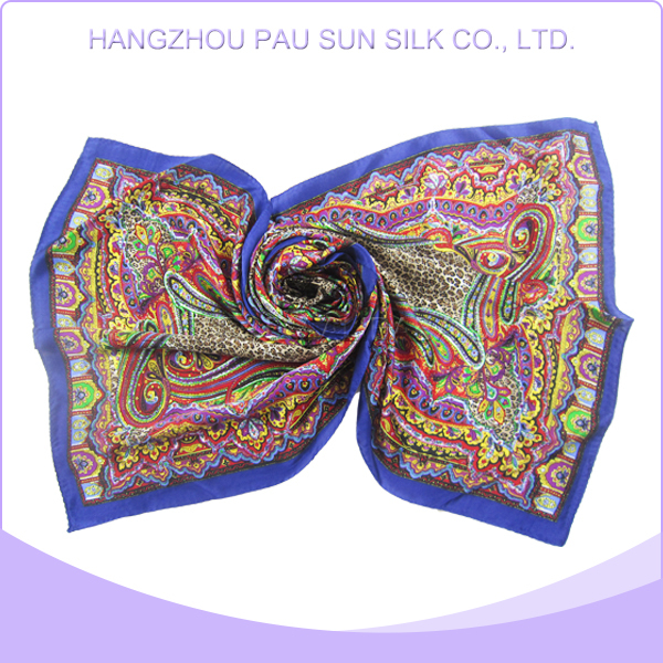 High quality customized promotion georgette silk satin scarf