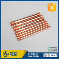 Ground copper clad steel ground rod for lightning protection and earthing system 1/2'' 5/8'' 3/4'' 1/3'' 3/8'' 1/2'' 4/4''