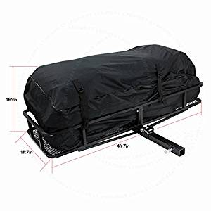 SN#100000001253-1139-301 For Acura Rear Hitch Cargo Carrier Basket + Luggage Bag