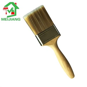 "2"" great quality wooden handle brushed stainless steel paint brush"