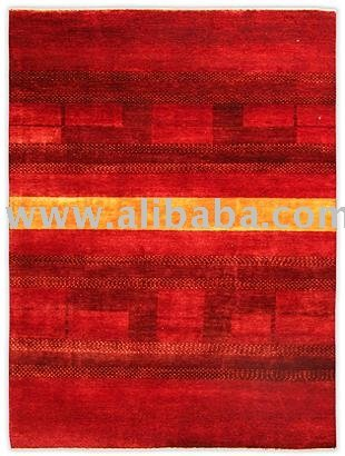 Fine Hand-Knotted Gabbeh Persian Natural Wool Rugs / Carpets
