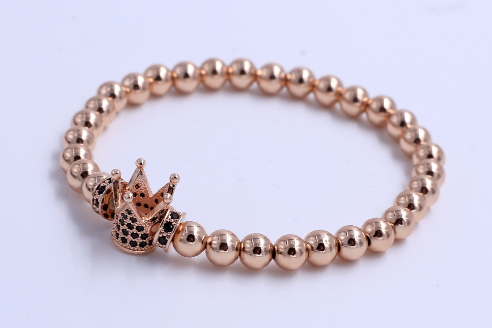 China Best Wholesale Websites 316 stainless steel jewelry Set Crown Shape Stainless Steel Small Beads Bracelet