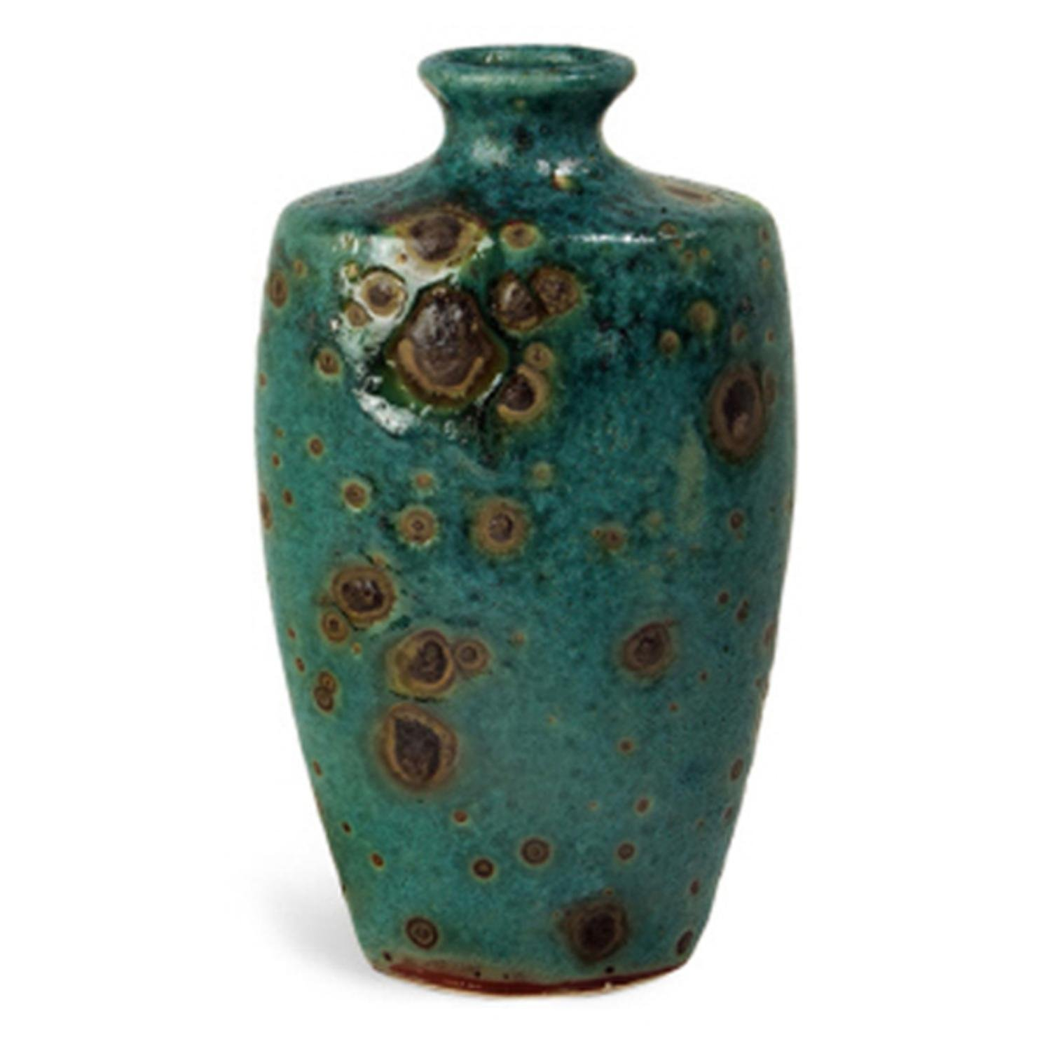 Cheap turquoise vase find turquoise vase deals on line at alibaba get quotations 14 oval turquoise reactive glaze ceramic vase with brown details reviewsmspy