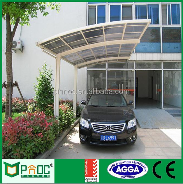 DIY Easy Installation Carport With Polycarbonate Arched Roof