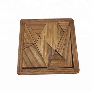 wooden 14 pieces tangram puzzle traditional games for adult