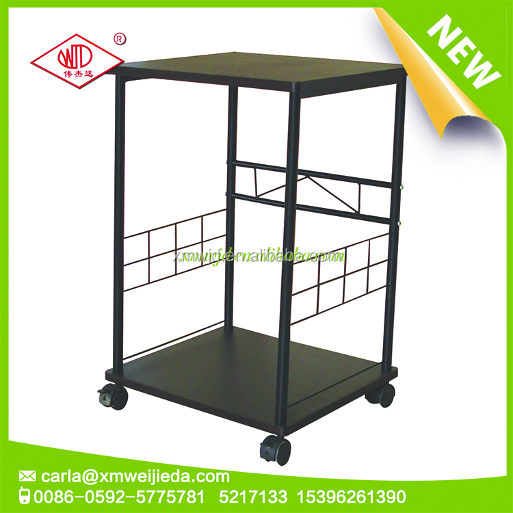 Hot sales metal display shelf in wheels