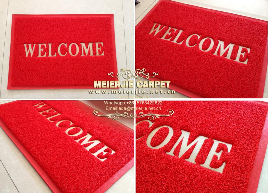 Anti Slip Rubber Backing Door Mat With Welcome Design