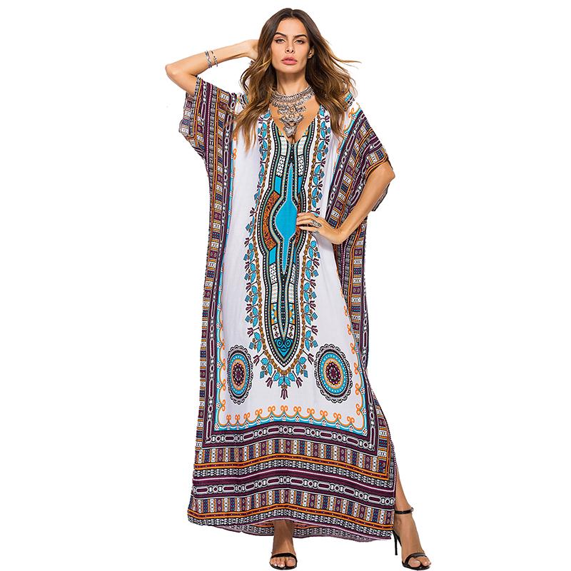 2019 Summer Hot Sales Woman Dress African Kitenge Dashiki Patterns Dresses Designs For Women