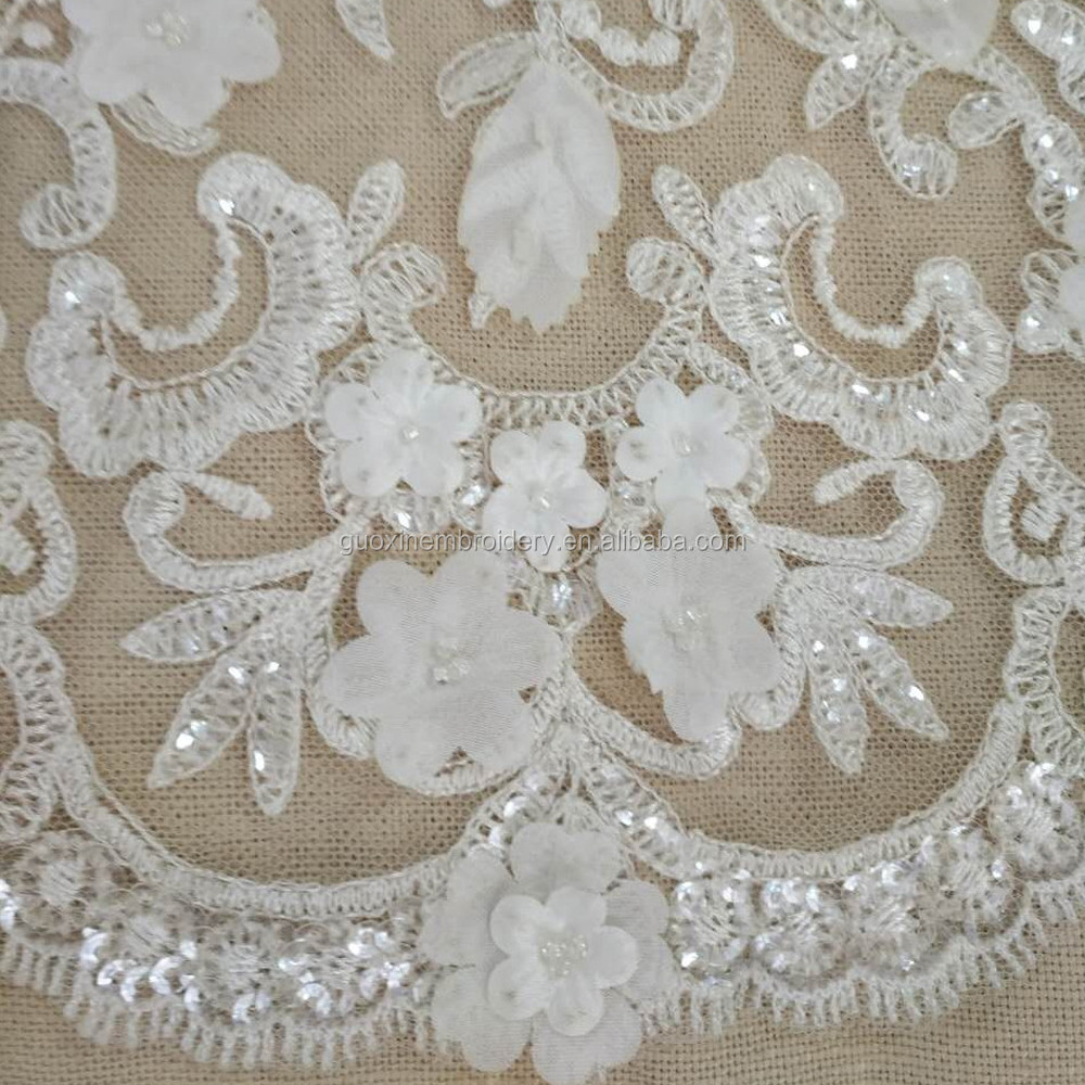 2016 Nice tulle bridal lace 3D lace fabric wholesale