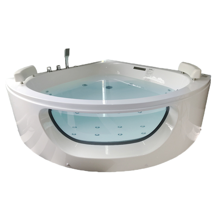 2 Persoon Acryl hoek spa Massage Whirlpool Warm bad Air Jetted Spa Hoek Bad Met Jets