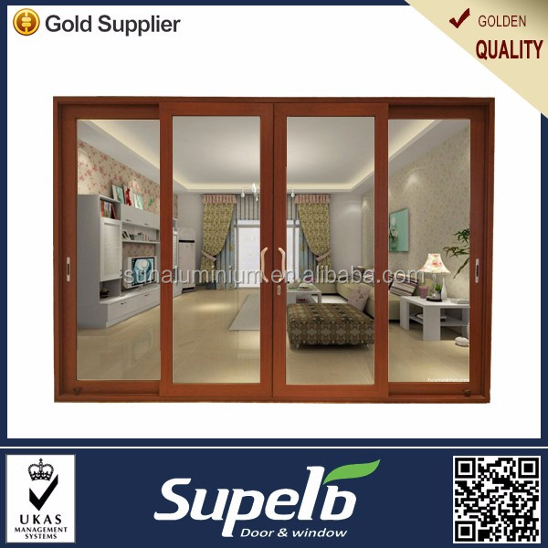 Chinese aluminum profile tempered glass sliding door