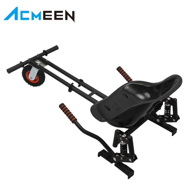 10'' Wheeled hover board Kart Adjustable Attachment for Balance Board Scooter Black