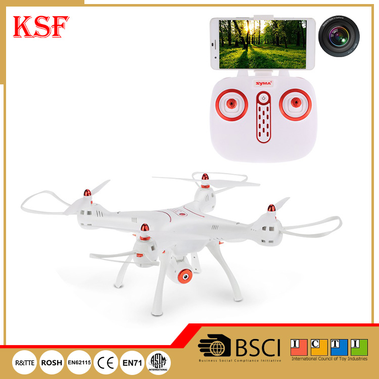 Syma X8SW China manufacturer upgrade 6-axis gyro rc drone with 720P HD camera and 4GB TF card
