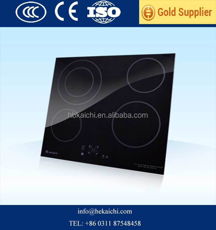 4 mm black crystal glass with silk screen factory price for induction cooker