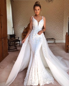 Detachable Wedding Dress.Decent Detachable Wedding Dress Bridal Gown Beaded Mermaid Wedding Dresses For Bride 2019 New Vestido De Noiva